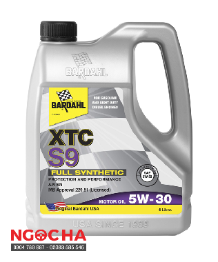 Dầu Nhớt Bardahl XTC S9 Full Synthetic